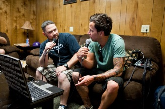 JC of theFIVE10 with Simple Plan's Pierre Bouvier