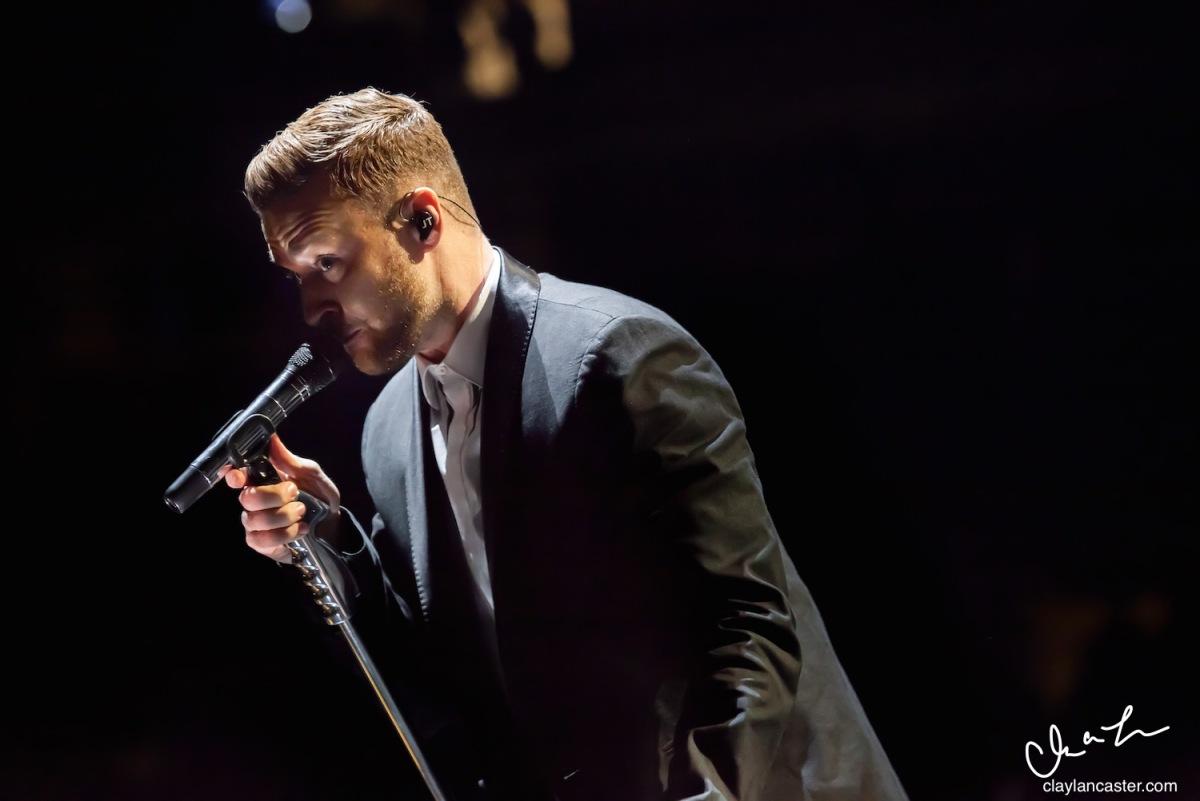 Justin Timberlake performs at Oracle Arena, November 22, 2014. Photo: Clay Lancaster