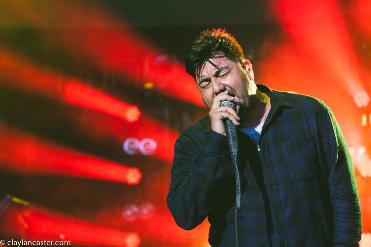 Chino Moreno performs with Deftones at Shoreline.