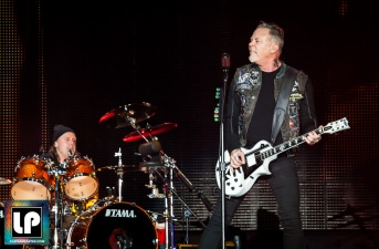 Metallica performs at CBS' The Night Before, AT&T Park, San Francisco. Photo by Clay Lancaster.