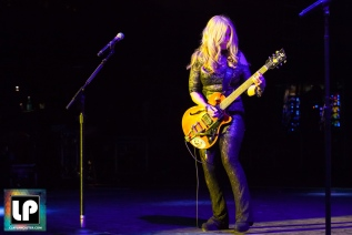 Nancy Wilson performs with Heart at Shoreline Amphitheater. Photo by Clay Lancaster.