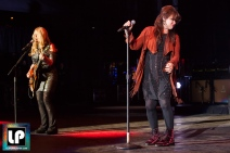 Ann & Nancy Wilson performs with Heart at Shoreline Amphitheater. Photo by Clay Lancaster.