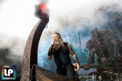 Amon Amarth performs at City National Civic in San Jose, CA. Photo by Clay Lancaster.