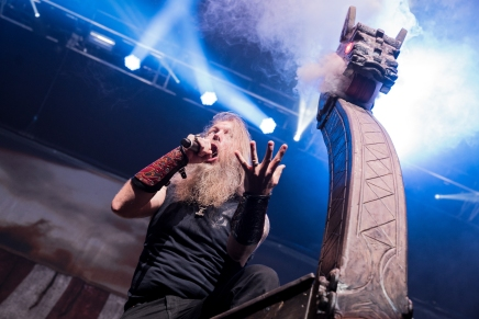 Amon Amarth performs at the Matthew Knight Arena in Eugene, OR. Photo by Keith Lancaster.