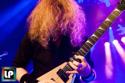 Dave Mustaine performs with Megadeth at City National Civic in San Jose, CA. Photo by Clay Lancaster.