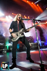 David Ellefson performs with Megadeth at City National Civic in San Jose, CA. Photo by Clay Lancaster.