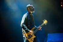 Justin Chancellor of Tool performs at SAP Center in San Jose. Photo by Clay Lancaster.