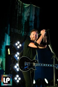 Tim Mcilrath performs with Rise Against at Concord Pavilion
