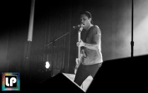 Justin Pearson performs with Dead Cross in Berkeley, CA. Photo by Clay Lancaster.