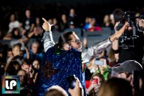 Jared Leto performs with Thirty Seconds to Mars at Shoreline, Mountain View. Photo by Clay Lancaster.