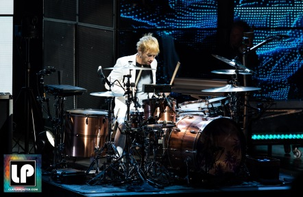 Dom Howard performs with Muse at Shoreline Amphitheater. Photo by Clay Lancaster.