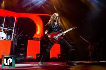 Kiko Loureiro performs with Megadeth at Oracle Arena. Photo by Clay Lancaster.