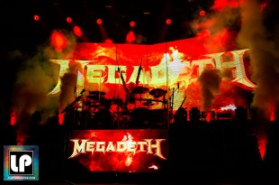 Dirk Verbeuren performs with Megadeth at Oracle Arena. Photo by Clay Lancaster.