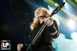Dave Mustaine performs with Megadeth at Oracle Arena. Photo by Clay Lancaster.