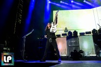 David Ellefson performs with Megadeth at Oracle Arena. Photo by Clay Lancaster.