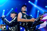 Klaus Meine and Matthias Jabs perform with Scorpions at Oracle Arena. Photo by Clay Lancaster.