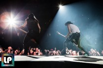 Paweł Mąciwoda and Rudolph Schenker perform with Scorpions at Oracle Arena. Photo by Clay Lancaster.