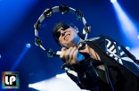 Klaus Meine performs with Scorpions at Oracle Arena. Photo by Clay Lancaster.