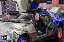 Christopher Lloyd in the Back to the Future Delorean at Fan Expo Dallas