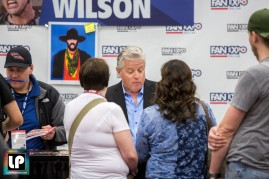 Tom Wilson (Biff Tannen) chats with fans at Fan Expo Dallas