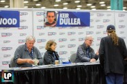 the cast of 2001 sign autographs at Fan Expo Dallas