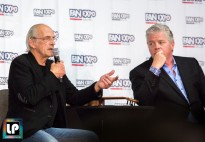 Christopher Lloyd (Doc Brown) and Tom Wilson (Biff Tannen) chat with fans at Fan Expo Dallas