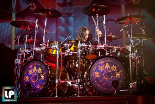Scott Travis performs with Judas Priest in San Francisco. Photo: Clay Lancaster