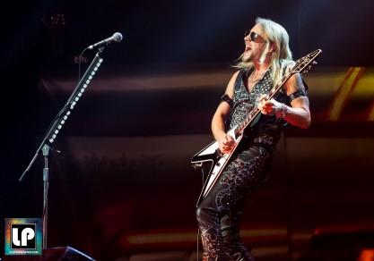 Richie Faulkner performs with Judas Priest in San Francisco. Photo: Clay Lancaster