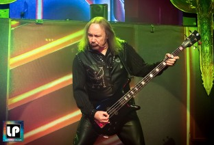 Ian Hill performs with Judas Priest in San Francisco. Photo: Clay Lancaster